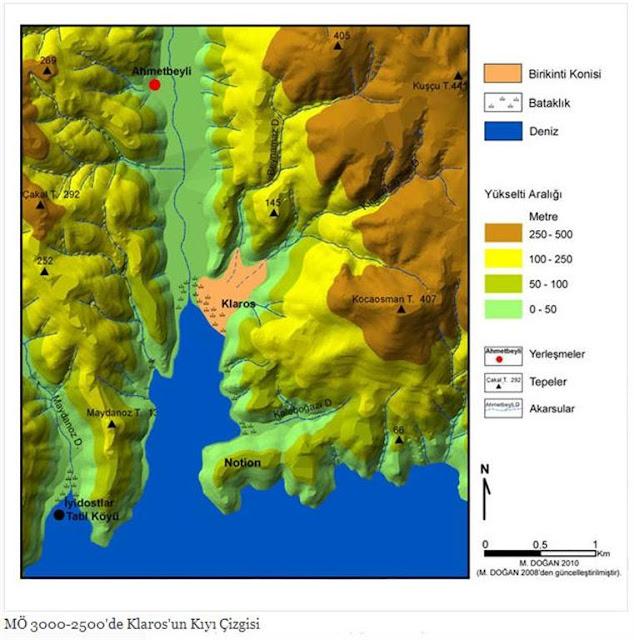 İ.Ö. 3000-2500'de Klaros'un Kıyı Çizgisi