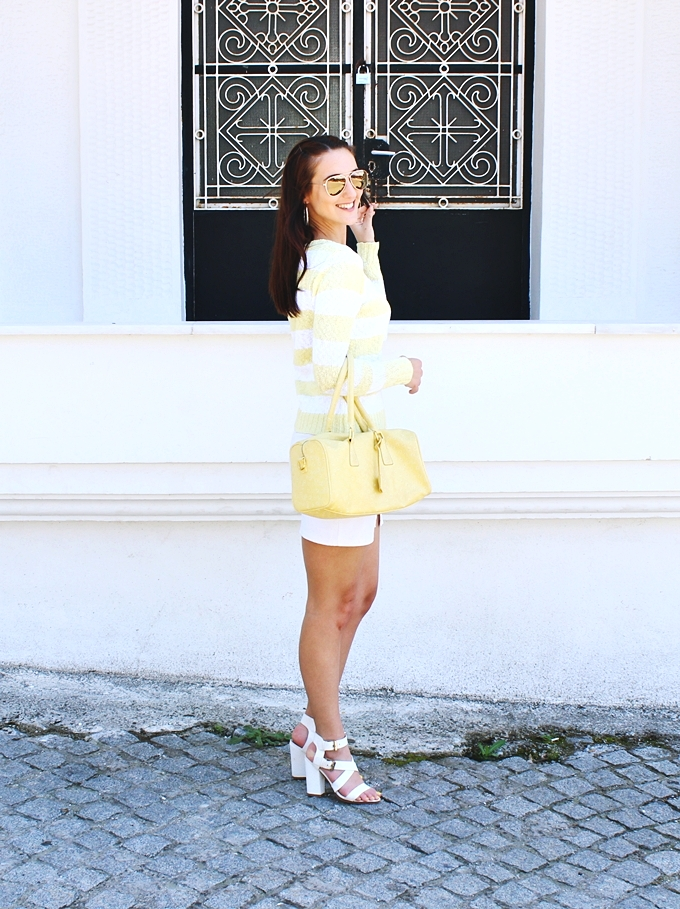 Best white and yellow spring outfits.Fresh summer city looks.