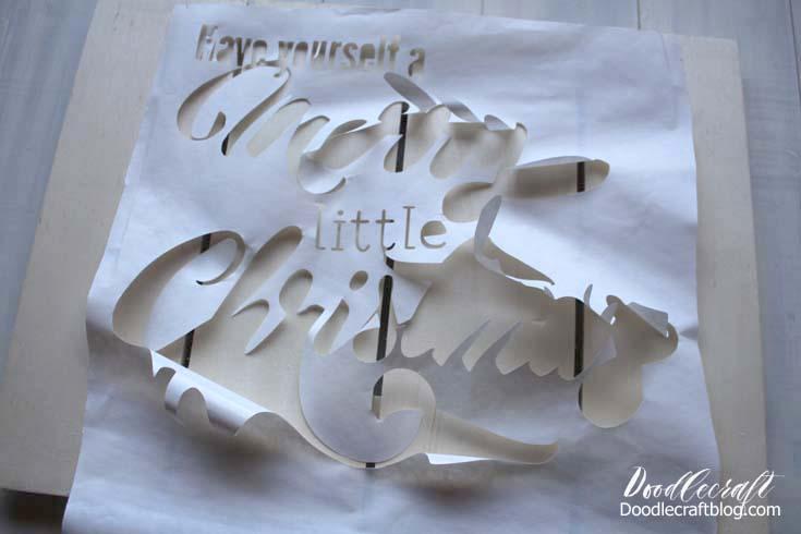 Merry Little Christmas Felt Holly Berry Wood Sign: Christmas