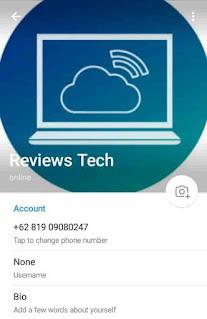ubah profil di telegram