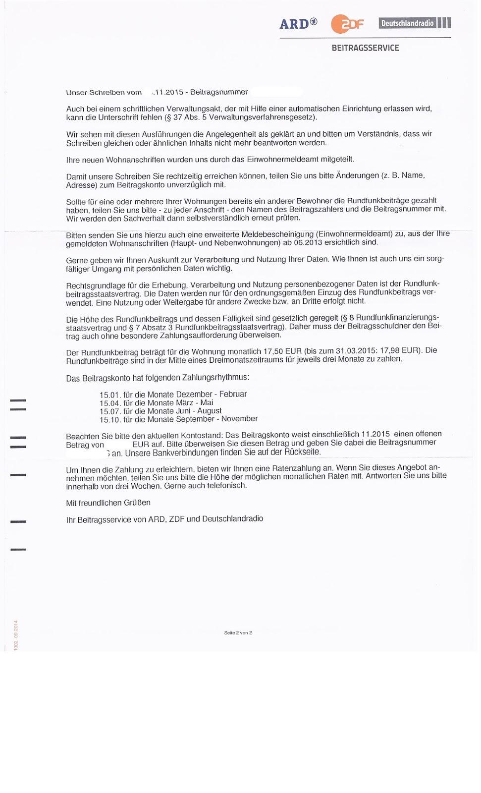 Beitragsservice Stoppen Beitragsservice Und Das Märchen Von Der