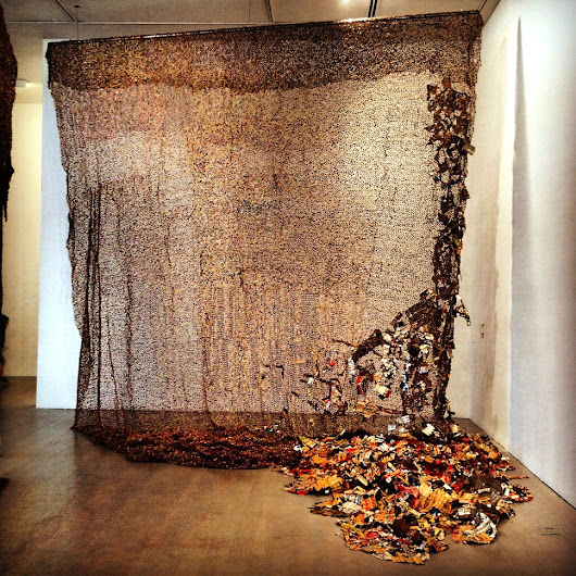 El Anatsui at the Bass