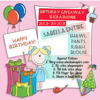 Birthday Giveaway Shiela Inspire