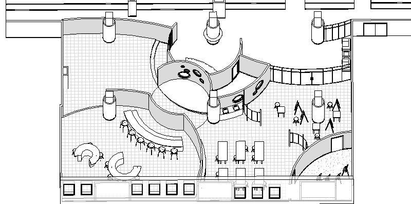 Revit for Interior Design Class: Schematic Model Images