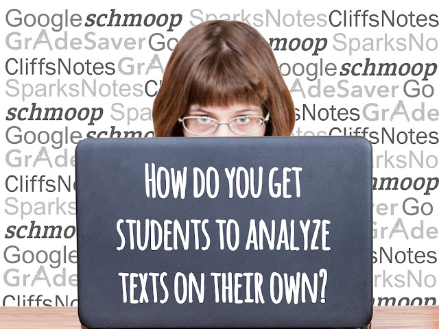 Strategies to keep students off the internet and to do the analysis themselves.