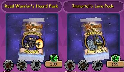 Paige's Page: Hoard Pack Sale- Wizard101