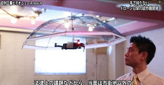 Guarda-chuva voador feito com drone promete virar mania no mundo - Capa