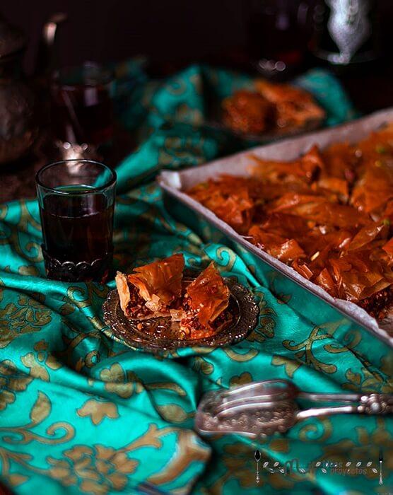 receta de baklava paso a paso