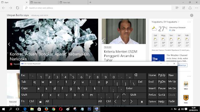 Daftar Lengkap Shortcut Pada Microsoft Edge Windows 10