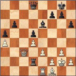 Posición de la partida de ajedrez Julia Maldonado vs. Sofía Ruiz, 1951