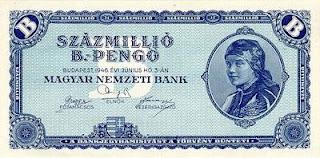 Figura 1.  Billete con denominación de 1020 pengo en Hungría