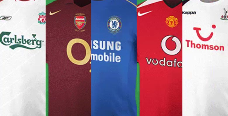 9a80f2fc751 Here are All Home   Away Kits of the Premier League 05-06 - Footy ...