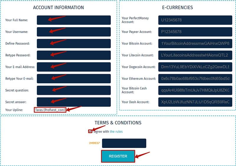 Регистрация в AmarBit LTD 2