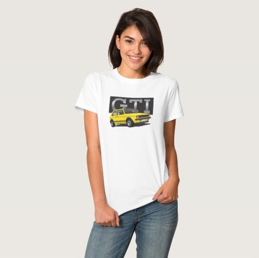 VW Golf GTI MK1 70's yellow t-shirt