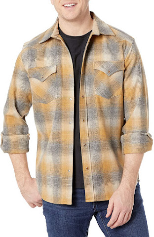 Best Snap Buttons Plaid Flannel Shirts for Men