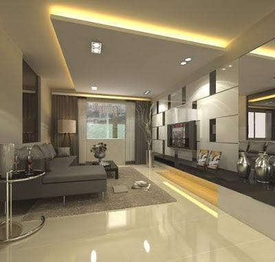 New gypsum ceiling design for living room 2019