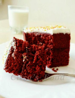 ... Home Diary: Red Velvet Steamed Cupcakes with cream cheese topping