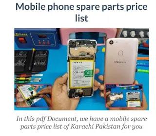 mobile spare parts price list