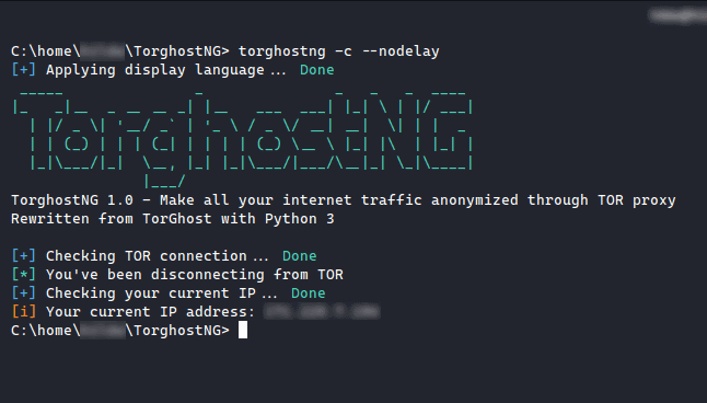 TorghostNG - Make All Your Internet Traffic Anonymized