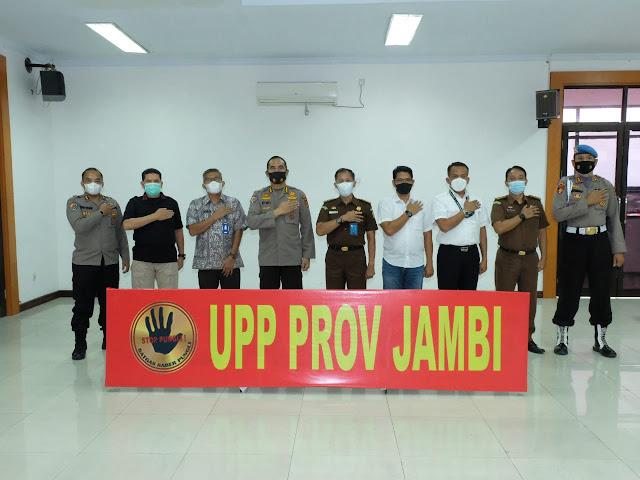 Irwasum Polri Pimpin Vicon Tentang Saber Pungli Bersama  Satgas Saber Pungli UPP Provinsi Jambi