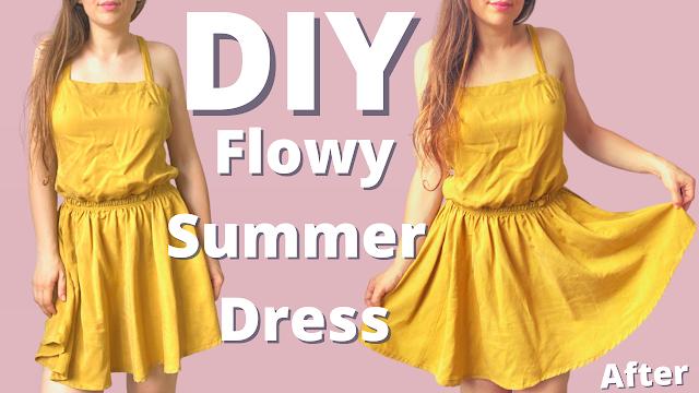 Diy Flowy Summer Dress  | Super Easy Sewing Project