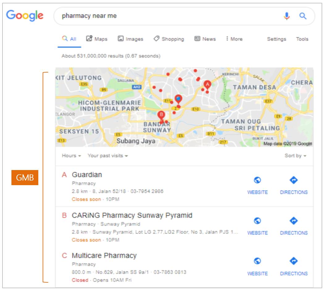 Google Navigational Search