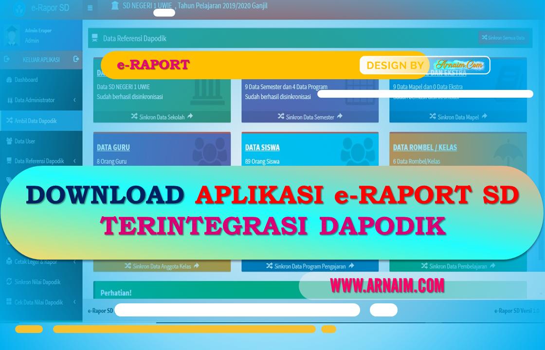 Download Aplikasi E Raport Sd 2020 Terintegrasi Dapodik Arnaim Com