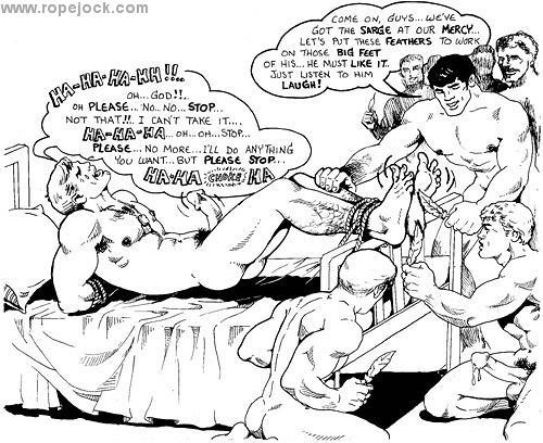 Achilles Heel Art Etienne Classic Tickling Cartoons-2886