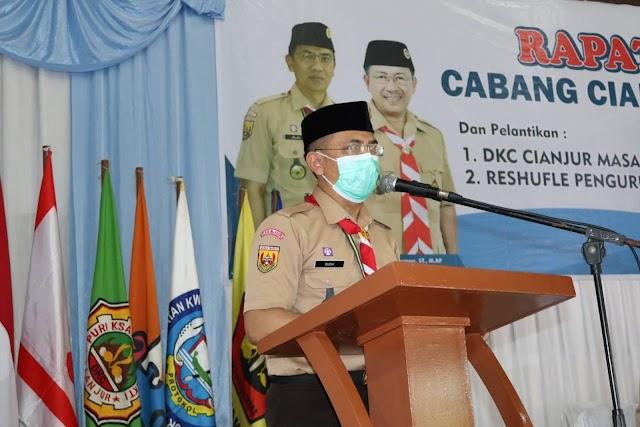 Kwartir Cabang Cianjur Kembali Menggelar Rapat Kerja  Cabang (RAKERCAB) Tahun 2021