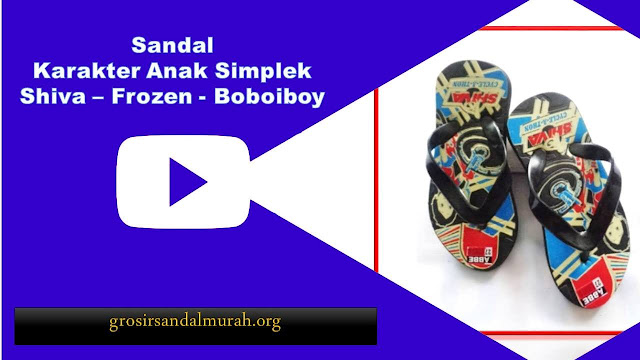 grosirsandalmurah.org-Sandal Anak - Sandal Karakter Simplek Anak