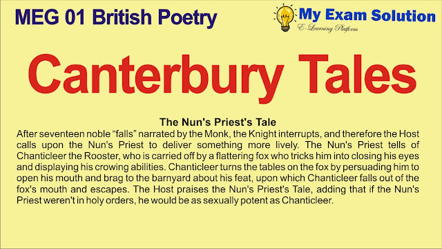canterbury tales, canterbury tales summary, british poetry, meg 01, summary of canterbury tales