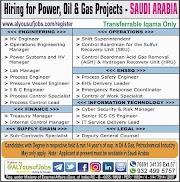 SAUDI JOBS : REQUIRED FOR A OIL AND GAS PROJECTS IN SAUDI .g