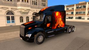 Fire Composition skin for Peterbilt 579