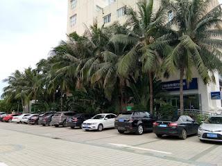 Parkiran hotel Waika kota Wenchang Hainan