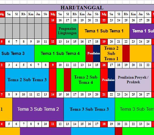 Download Jadwal Pelajaran K13 Tahun Kelas 3 Sd Mi Mariyadi Com