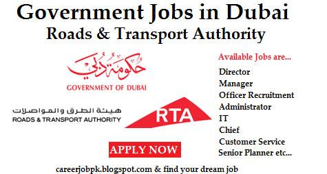 Latest Jobs In Roads & Transport Authority (RTA) Dubai