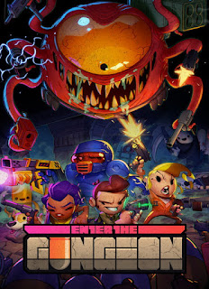 Enter the Gungeon+pc+game+cover+art+bullet hell+RGP+cool