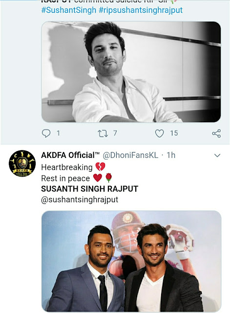 Sushant Singh Rajput the famous Indian actor committed suicide on 14 june 2020