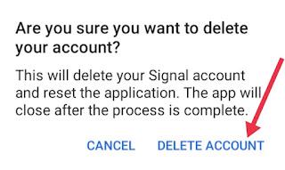 Signal App Account Delete Kaise Kare