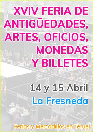 XVIV Feria de antigüedades, artes, oficios, monedas y billetes