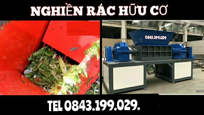 Máy xay nghiền rác thải sinh hoạt 2 trục lớn