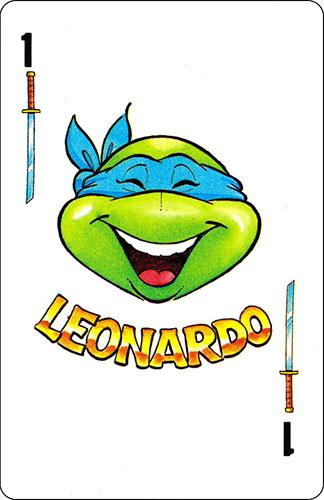 Baraja infantil Las Tortugas Ninja Fournier Carta Leonardo 1