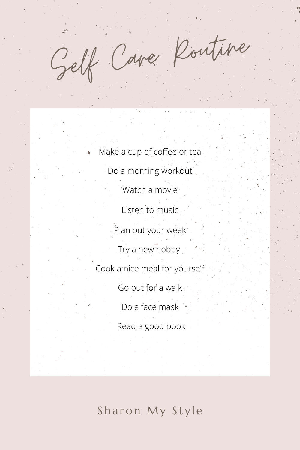 self care routine to relax your body and mind