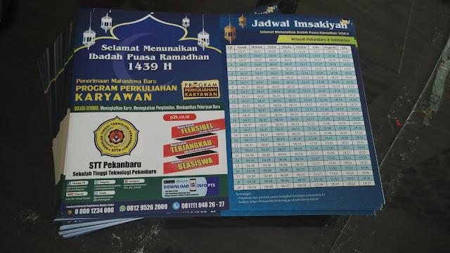 Brosur Jadwal Imsakiyah Sekaligus Promosi Kampus
