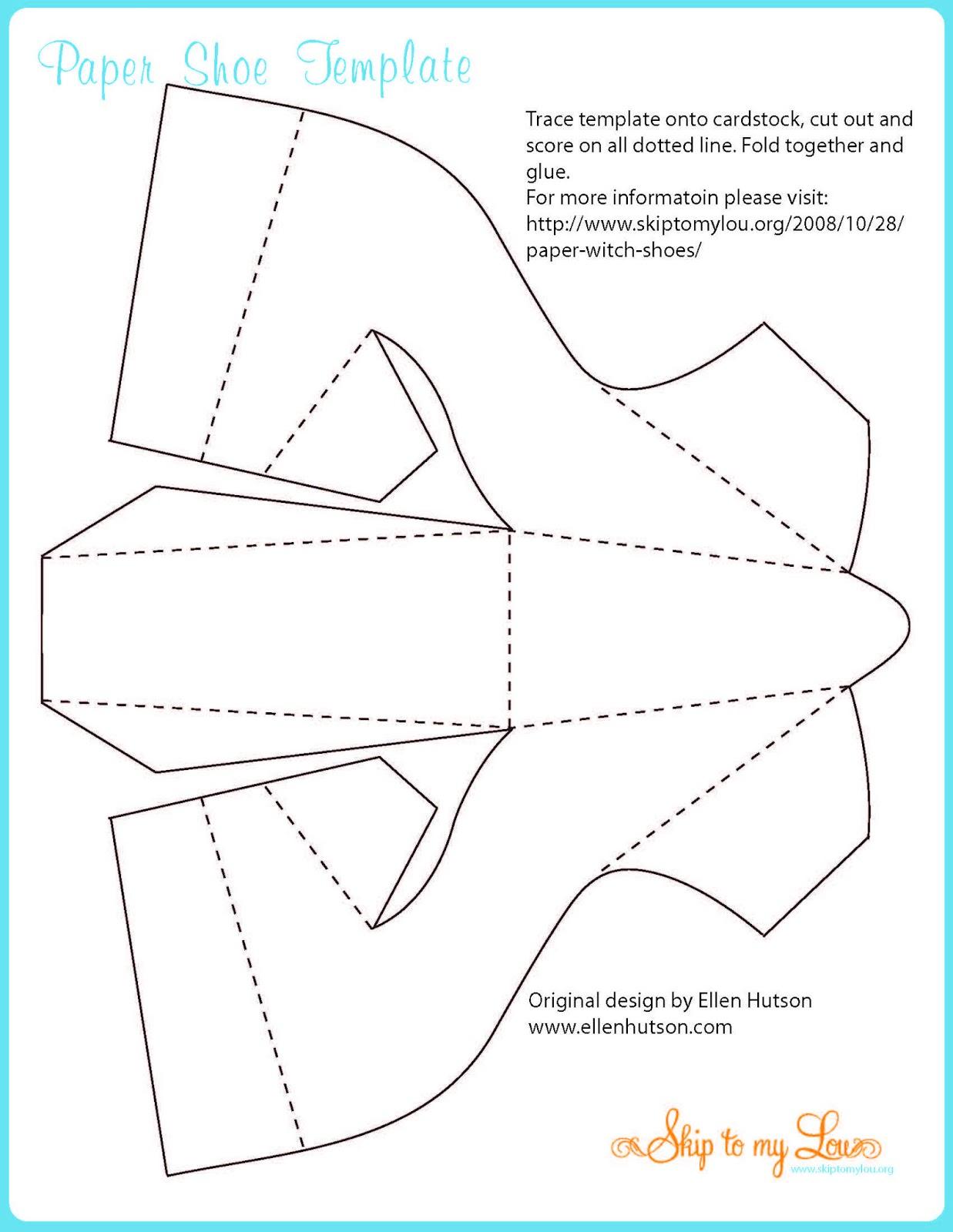 high heel shoe template craft - caixa em forma de sapato com molde dia das m es