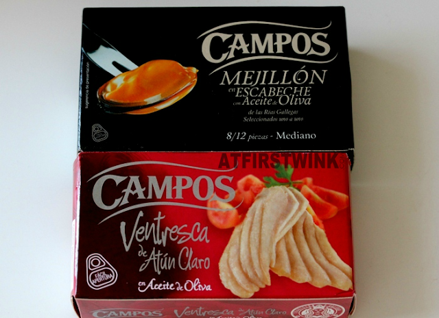 Barcelona souvenirs: Campos canned goods mussels and tuna (mejillon en escabeche and ventresca de atun claro)
