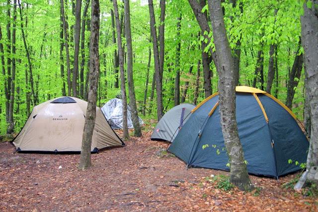Наш лагерь в Большом каньоне Крыма