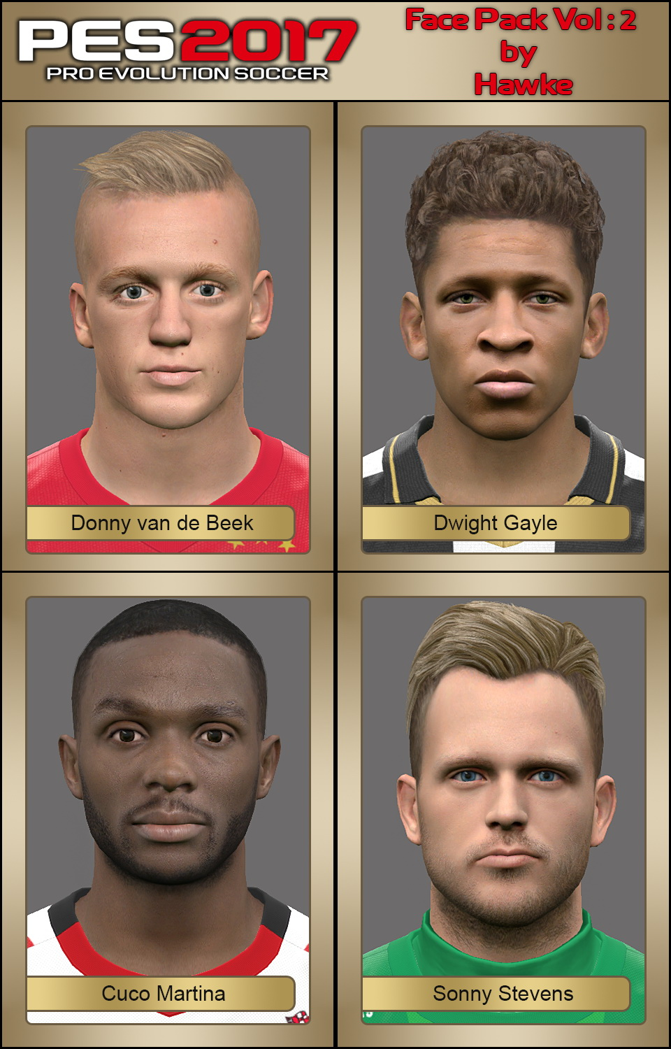PES 2017 Face Pack