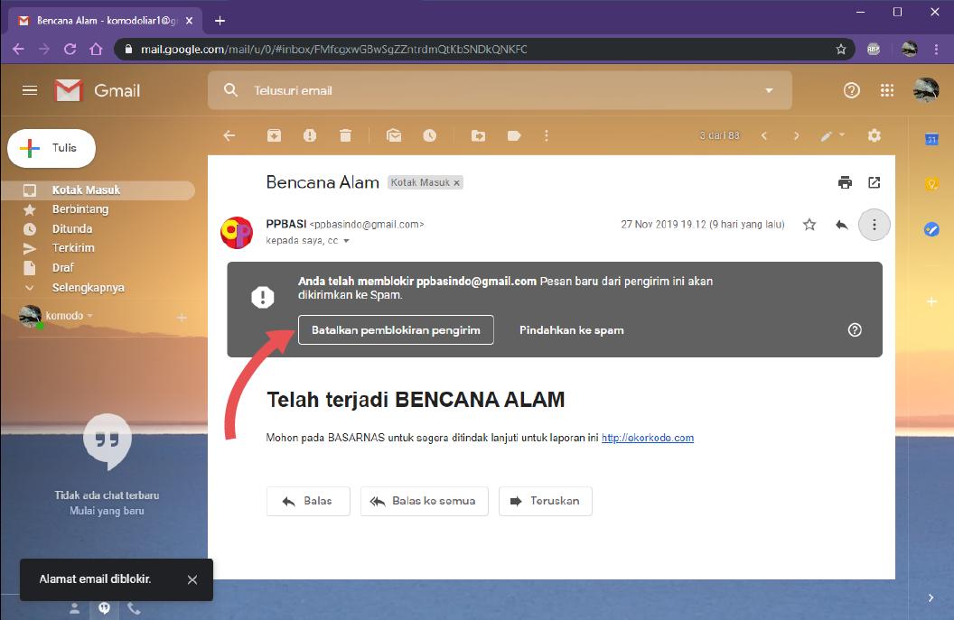 Email Diblokir Apa Yang Terjadi Jika Memblokir Email Orang Lain Di Gmail Ekorkode Com
