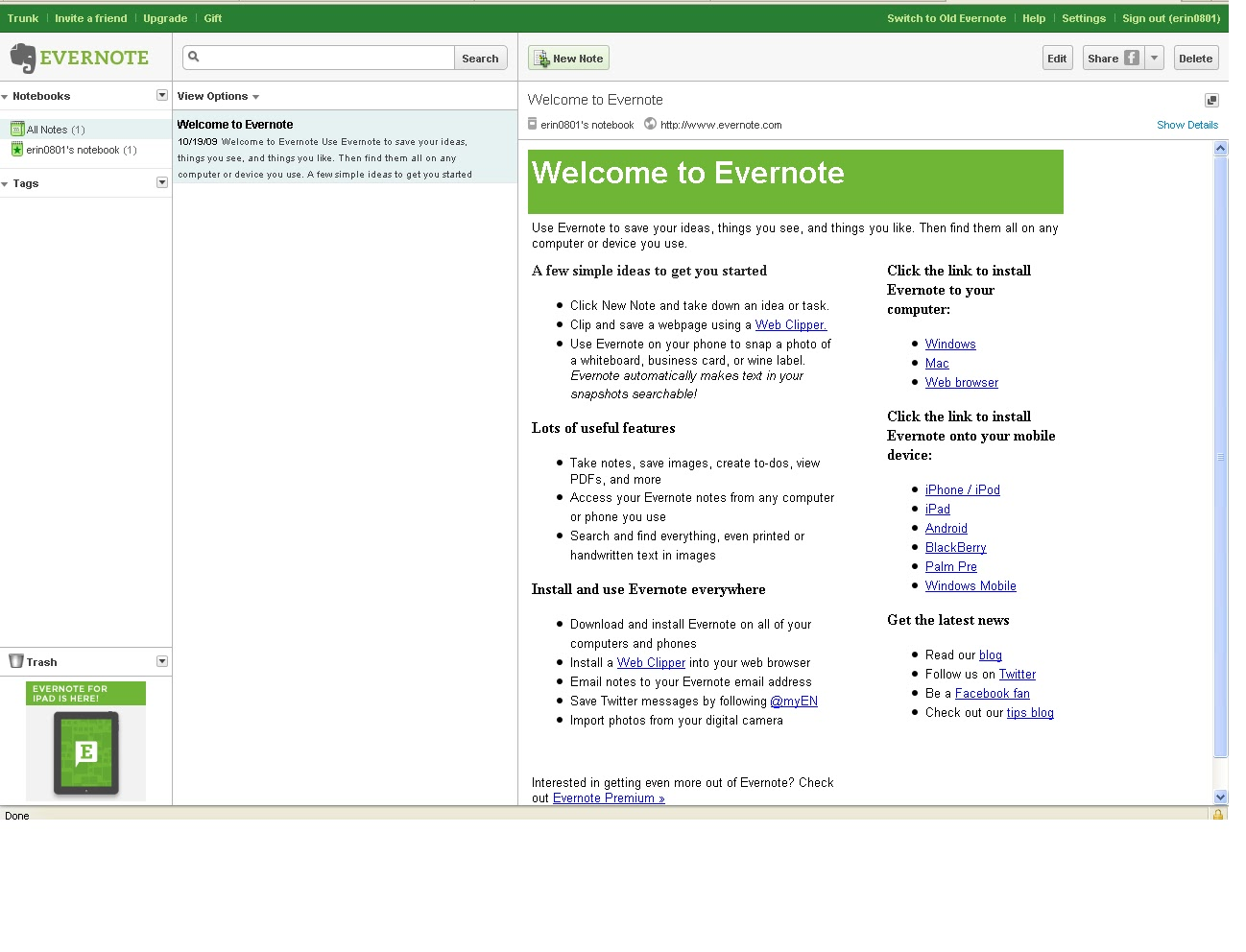 23 Things for Professional Development: Thing 9: Evernote